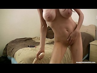 Huge tits milf joi and dildo play
