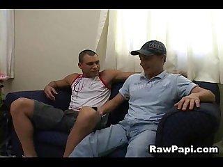 Two wild latino anal fucking
