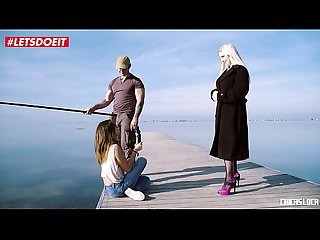 Letsdoeit blonde Pornstar seduces and fucks guy with Gf watching frida sante georgie lyall