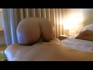 Amateur couple in reverse cowgirl. Sexy wife, hot milf!
