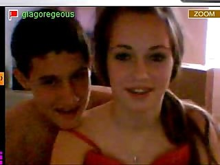 young couple teasing on cam