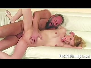 Horny Old Guy fucked girl