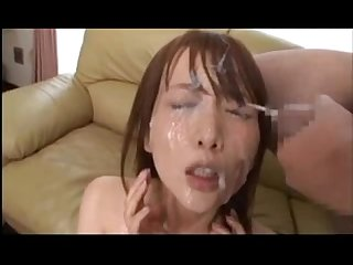 Cute japanese girl bukkake