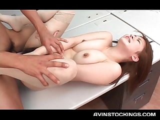 Nympho japanese hottie cunt fucked and mouth filled with jizz