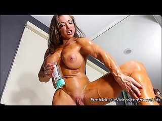 muscle women oiled Nude