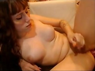 Webcampornlive com cute redhead shemale dildoing her ass on cam