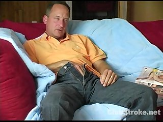 Mature Straight Dirty Jerking Off His Schlong