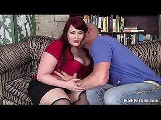 Redhead BBW Beauty Fat Pussy Fucked