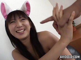 Cute hina hinako gives a hot blowjob