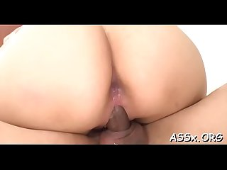 Lovely asian enjoys lusty snatch shaving previous to coarse anal sex