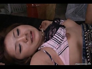 Karin Tsubaki Lovely Asian model rides a huge dick