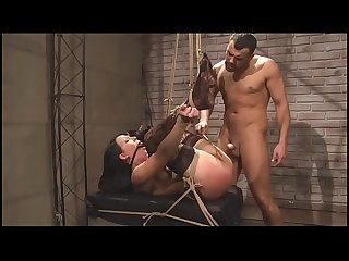 Suffering slut bdsm movie hardcore bondage sex