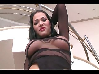 Pretty milf fucking in stockings