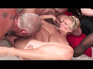 Bbvideo com chesty german grannies fucks in foursome