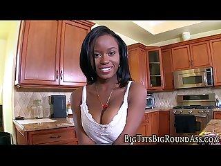 Stacked ebony babe fucked