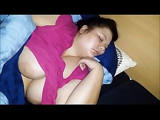 Sleeping fat pig melanie cum on tits
