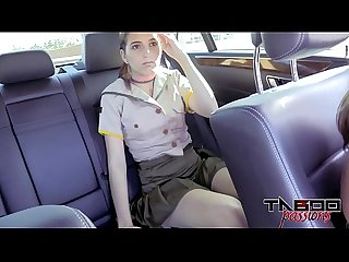 Horny teen brooke haze gives stepdad blowjob while mom drives