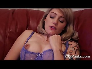 Tall Charlotte Masturbating On The Couch
