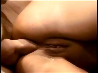Amateur brunette ass creampied on real homemade