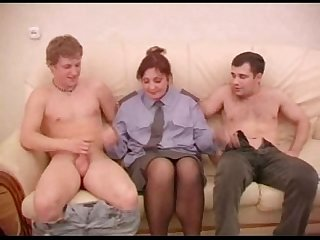Russina milf uniform policewoman