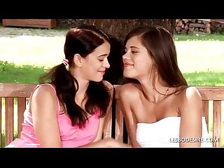 Caprice white dress and susan kiss passionately in the garden