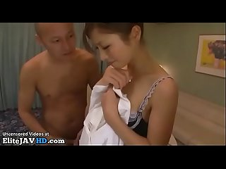 Jav hotel maid in stockings fucks two clients