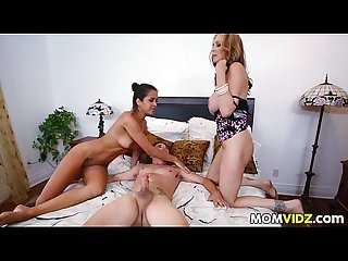 StepMom Julia Ann 3some with maid Abby Lee Brazil