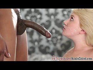 Teen spermed black dong