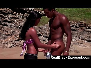 RealBlackExposed - Big black cock for a hot beach fuck