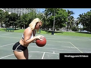 Pawg Nina kayy plays more than ball with a big black cock
