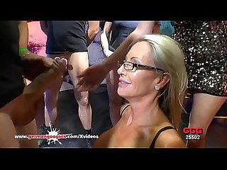 Mature Emma Starr first gangbang in Bukkake Arena - German Goo Girls