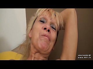 Busty amateur french cougar sodomized N jizzed on body