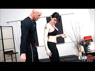 TS Eva Lin gets her ass drilled bareback by her trainer