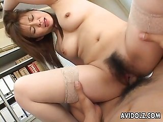 Busty asian slut reverse cow girl rides his hard cock