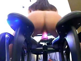 Slut Loves Her Rocker Dildo Seat | WWW.LUSTSLUT.COM