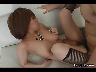 Big tit babe Arisa Minami gets tits covered in cum!