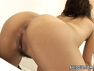 hairy pussy riho asakura nailed with creampie