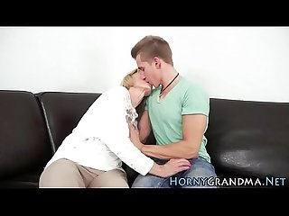 Granny takes cum mouthful
