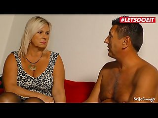 LETSDOEIT - Chubby German Wife Rides Neighbor's Cock