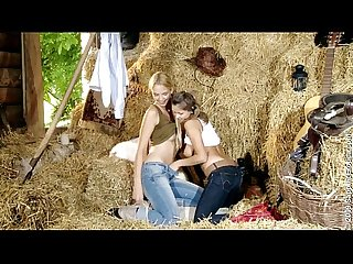 Zoe and Aneta Hayloft Anal-H852W