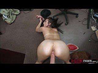 Brunette and hot alexis deen gets fucked hard by shawns big cock