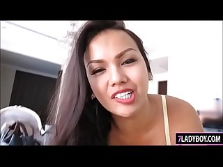 Voluptuous Ladyboy Amy Blowjob And Masturbating