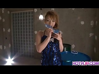 Sena aragaki licks dildo and fucks with it before getting shlong