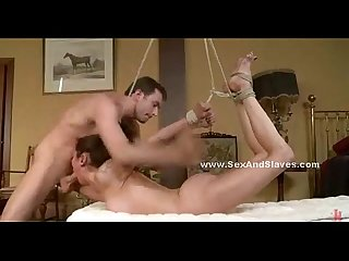 Beautifull wife ravaged and demolished in nasty bondage sex with angry husband