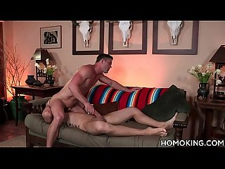 Muscular gay men in a kinky gay sex scene
