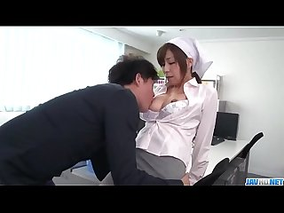 Milf Chihiro Akino tries heavy penis in her tight pussy - More at javhd.net
