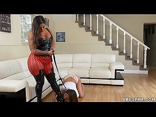Girl on Girl slave domination