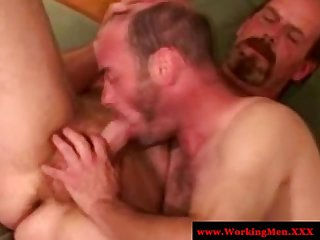 Straight redneck mature bears eager bj