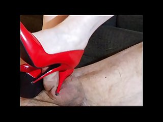 Red Patent Stiletto Shoe Job 01