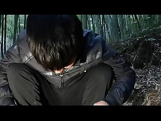 boy cum bamboo forest Masturbation Ejaculation cute Grove Super cute teen china japan young people..